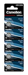 Camelion CR1220 3 V Lithium-Ion Button Cell Battery (Pack of 5)