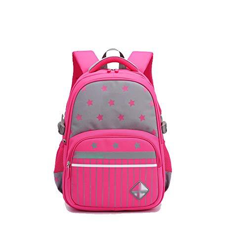 Zfggd Mädchen Jungen Rucksack, Kinder Schultasche Casual Daypack Bookbag für Grundschule (Farbe : Pink)