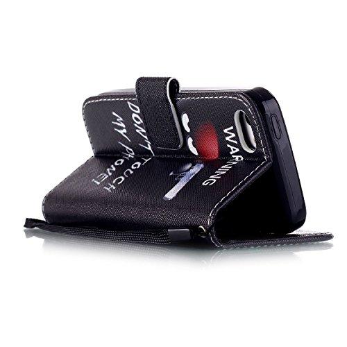 iPhone 5C Custodia Pelle,Ukayfe PU Disegni dipinto Case Cover Protettiva Portafoglio Protettivo Copertura Wallet Libro,Moda Disegno stampa dellunità di elaborazione di vibrazione del cuoio magnetico  Tiratore scelto