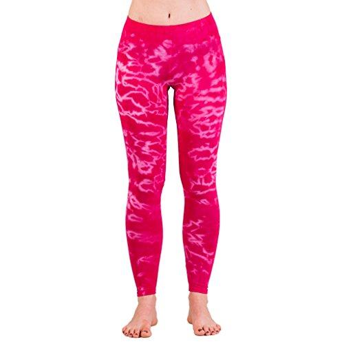 Leggings: Batik, in Pink (Leggings Damen-bio-baumwoll-strumpfhose)