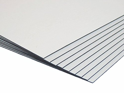Pinnacle Smooth White With Black Core 500X400mm Mount Board 1400mic - 10 Packs Of 10 Sheets