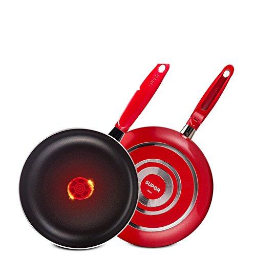 panss Bratpfannen,Pfannen antihaft Grill mit Deckel Keine dämpfe Omelett-pfannen Pfoa-Frei 1pc 10 inch 26cm-E