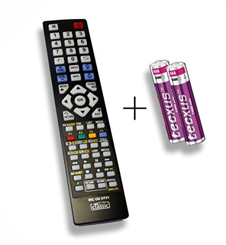 Ersatzfernbedienung speziell für SEG LED-BLU-TV VALENCIA DLZE®-Edition inkl. Batterien