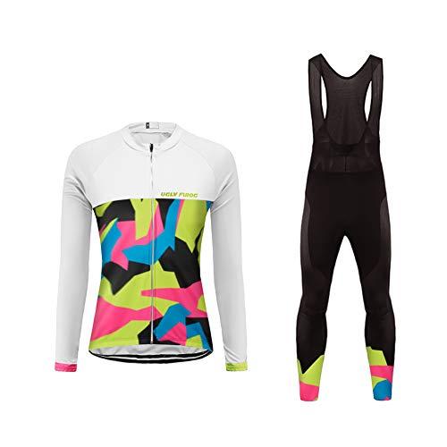 "Uglyfrog Damen Radfahren Langarm Radfahren Jersey Winter with Fleece eine Menge Farben Antislip Ã""rmel Cuff Road Bike MTB Top Riding Shirt"