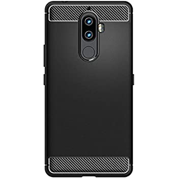 WOW Imagine Shock Proof Carbon Fibre Brushed Texture Armour Series Impact Resistant Slim Profile Flexible TPU Phone Back Case Cover for Lenovo K8 Note - Carbon Black