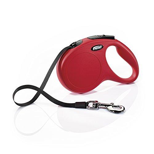 flexi New Classic piombo retrattile, M / L Taper 5m rosso