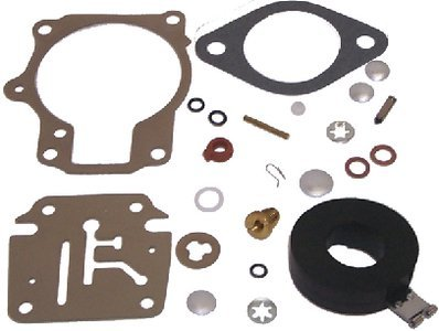 Carburetor Kit w/Float Johnson Evinrude REPLACES 18-7222 OMC 396701 by EMP