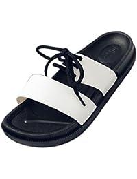 Transer Unisex Slippers, Liebhaber Flach Schnürung Outdoor Strand Flip  Flops Hausschuhe bacf431cfe