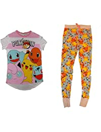 07da5c5335ee4 PRIMARK Ladies Girls LISCENSED POKEMON Pikachu Pyjamas PJ SET T SHIRT UK  S-XL (