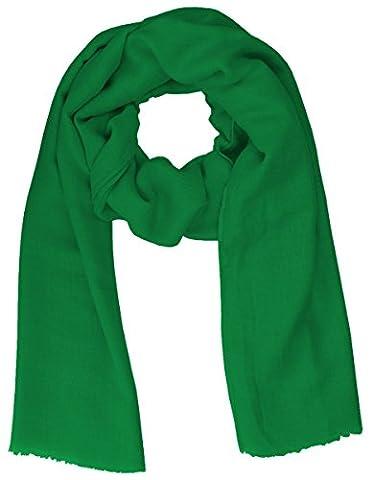 Lovely Lauri Schal Basic Tuch einfarbig unifarben uni Übergangszeit weich lang grün dunkelgrün