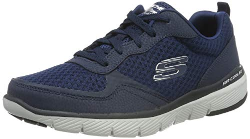 Skechers Herren Flex Advantage 3.0 Sneaker, Blau (Navy NVY), 46 EU