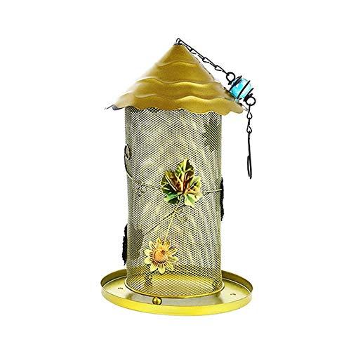 Panorama-Fenster-Vogelfutter-Spender, Pilz hängende Masche Wild Bird Feeder für Garten, füllen Sie es mit Sonnenblumenöl, Ölsamen, Erdnüssen und Pellets -