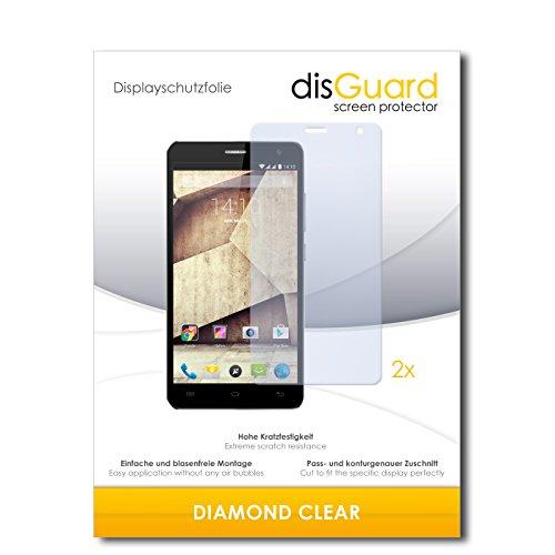 2 x disGuard® Bildschirmschutzfolie Allview P6 Qmax Schutzfolie Folie