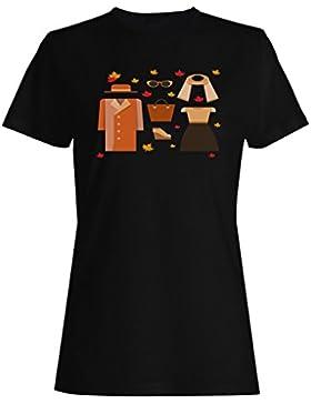 Ropa femenina tonos naranja camiseta de las mujeres g924f