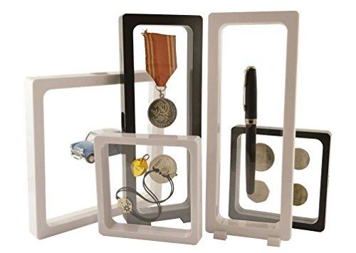 Nero-Peller S Telaio 3d visio Soft taglia M-110mmx110mm Frame Display wandaufbewahrung münzständer, Coin Stand raccoglitore per monete, monete conservazione, monete raccolta, capsule