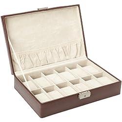 Tech Swiss TS2890BRN Storage Case Watch Box Watch Case