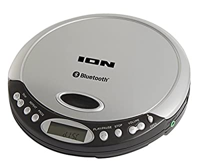 ION Audio Air Slimline Portable Anti-Skip CD Player with Wireless Bluetooth Streaming, Headphone Output, Optional USB and Battery Operation