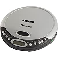 ION Audio Air CD Slimline Personal Portable CD Player with Bluetooth Streaming Headphone Output and Optional Battery Operation