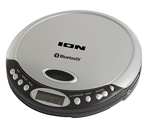 ION Audio Air CD - Slimline Portable Anti-Skip CD Player with Wireless Bluetooth Streaming  Headphone Output and Optional USB Battery Operation