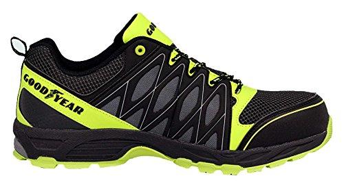 Goodyear Gyshu1503, Chaussures de Sécurité Homme vert/noir