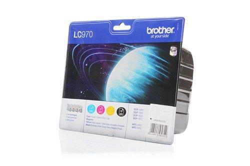 Preisvergleich Produktbild Original Tinte passend für Brother DCP-157 C Brother LC-970VALBPDR - 4x Premium Drucker-Patrone - Schwarz, Cyan, Magenta, Gelb - 1x350 & 3x300 Seiten