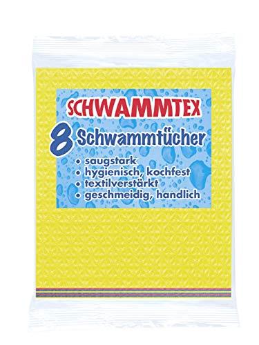 Spontex Schwammtuch 8er Vorteilspack, extrem saugfähig und langlebig, aus Viskose, biologisch abbaubar (2 x 8 Stück)