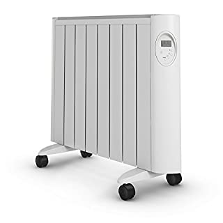 Pifco Green Energy P37002 Ceramic Radiator with LED Digital Control and Timer, Energy Efficient, 1500 W, White
