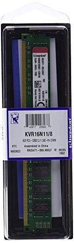 Kingston KVR16N11/8 - Memoria RAM 8 GB 1600 MHz DDR3