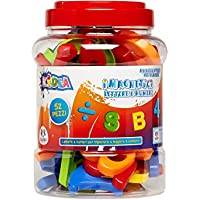 Globo Toys Globo - 36399 Kidea Magnetic Letters and Numbers Jar (52-piece)