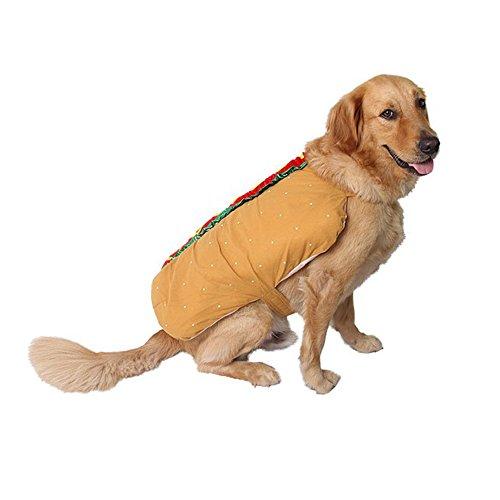 en lustige Hamburger Haustier Kostüm Katze und Hund Cosplay Bekleidung-M (Hamburger Hund Kostüm)