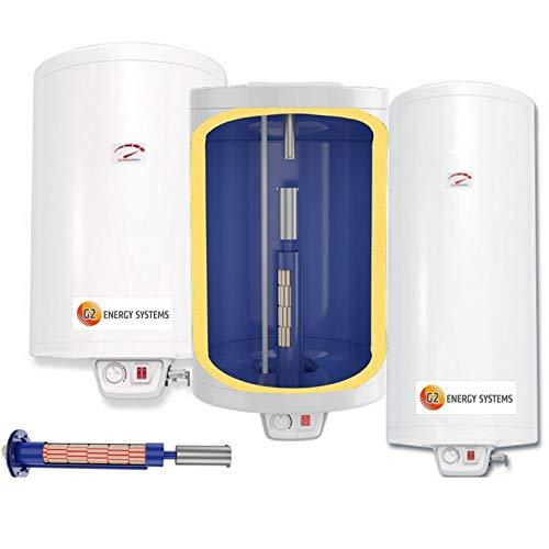 50 80 100 120 150 200 L Liter 2-2,2 kW 230 Volt Elektro Warmwasserspeicher Boiler mit verschleißfreiem Keramikheizstab, wandhängender Boiler