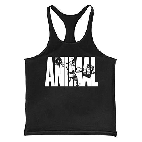 e27f9988142a Cabeen Uomo Animal Canottiera Tank Top Veste da Palestra Bodybuilding, Canotta da Sport, in