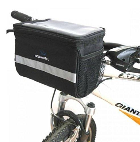 Wasserdicht Fahrrad Radfahren Lenkertasche Lenker Beutel Handy Halterung Bildschirm Touch Tasche mit abnehmbarem Schultergurt für die Damen,Frauen und Mädchen