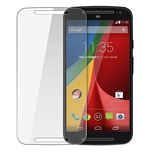 Moto G3 - Tempered Glass Screen Protector with Scratch Proof and Anti-Shatter Coating & Alcohol wet and dry cloth pad