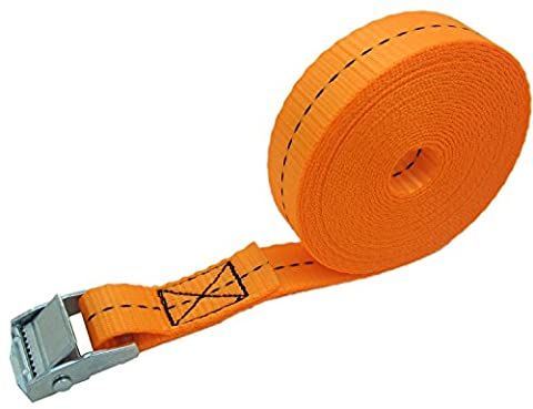 WINGONEER 1in wide x 16ft long Lashing straps up To 550lbs 1pcs - Orange