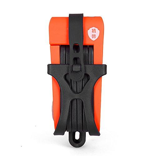 INBIKE anti-shear von 12Tonnen Hydraulischer Cutter Bike Lock Anti-Diebstahl Motorrad Lock candado Elektro-Fahrrad tragbar Mini Folding Lock, Updated Orange