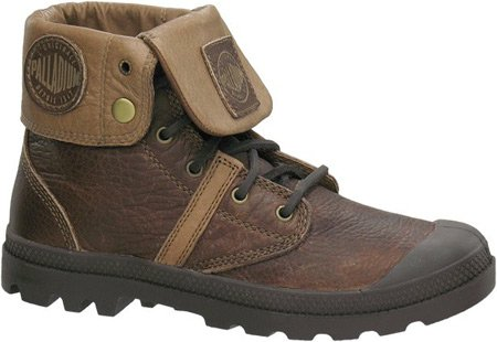 Palladium Pallabrouse Baggy Leather Chaussures d'h brown