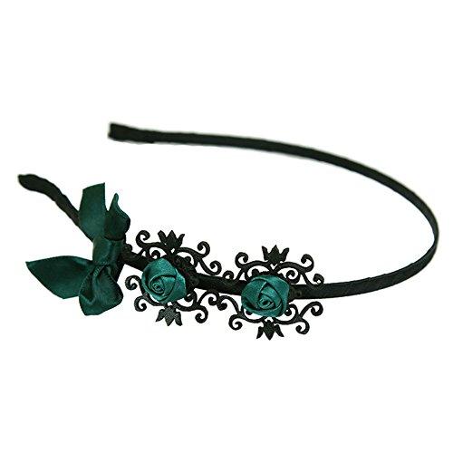 Preisvergleich Produktbild Aiklin Mädchen Rose Blume Haarreif Vintage Haarband