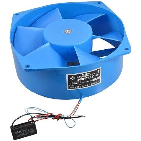 Ventilador de 220 V 65 W alas azules de metal motor eléctrico axial de aire de flujo