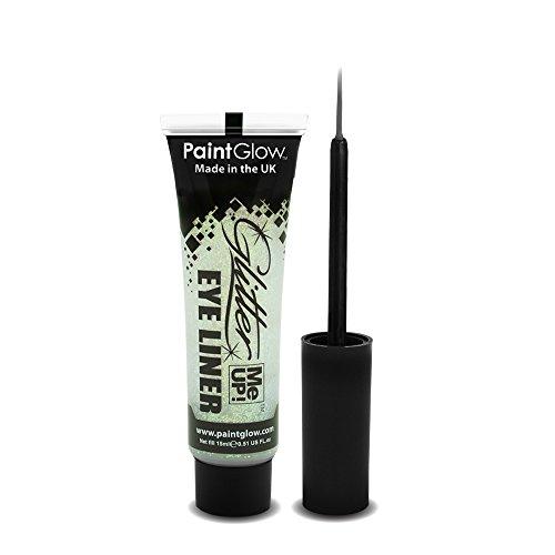 PaintGlow Glitter Eyeliner with Applicator White 15ml