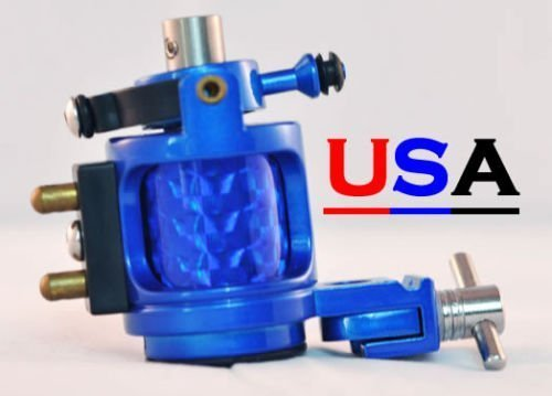 Blue Hybrid Hammer Rotary Tattoo Machine w/Free Case by Pirate Face Tattoo