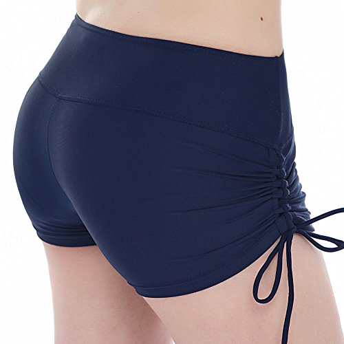 Ovimo donna ampia fascia in vita costume da bagno Costume spiaggia bikini da donna con laccetti regolabili Navy Blue