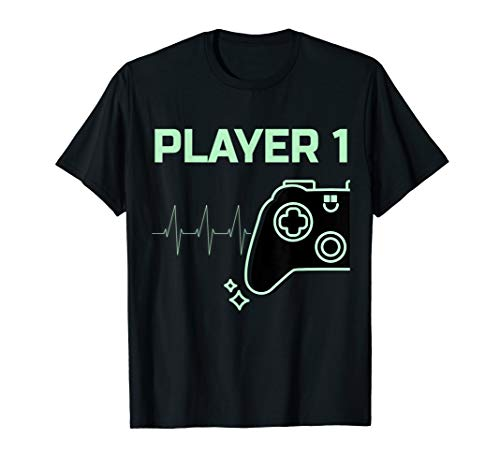 Paar Gaming Kostüm - Player 1 T-Shirt