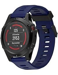 Correa de reloj para Garmin Fenix 5x GPS reloj, silicona grande Reemplazo Banda Reloj Pulsera vneirw