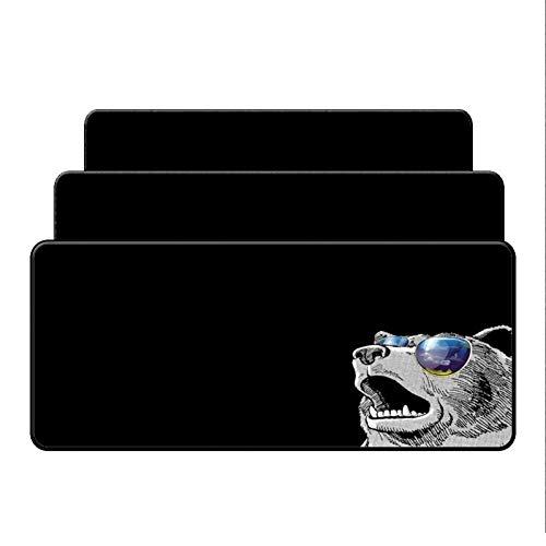 Erjiasan Diy Schlosskante Maus Schreibtisch Matten Für Geschwindigkeit Hund Mit Brille Gamer Tier Mauspad Mousepad Mode Laptop Notebook Matten,300X800X2MM