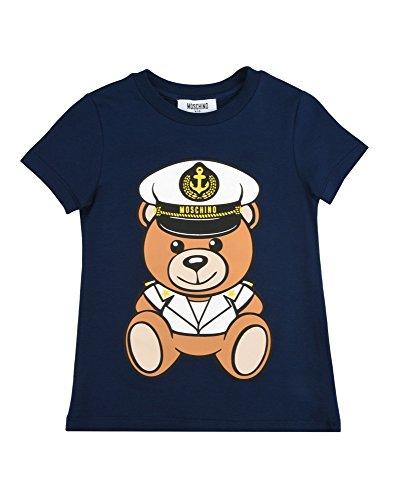 Moschino t-shirt blu stampa orsacchiotto marinaro 10a