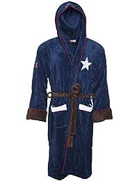 Mens Blue Captain America Costume Marvel Civil War Dressing Gown