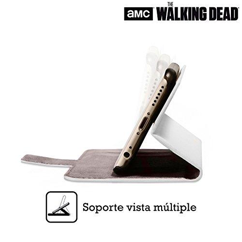 Offizielle AMC The Walking Dead Daryl Persönlichkeiten Brieftasche Handyhülle aus Leder für Apple iPhone 6 / 6s Maggie
