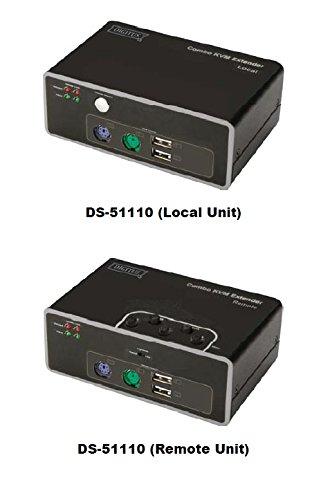 DIGITUS Combo KVM Extender PS/2 + USB, bis 200m über Cat5, max. 1920x1080px (bis 75m)/1280x1024px (bis 200m), SET (Sendeeinheit + Empfangseinheit), inkl 2x Netzteil (Mac Ps/2-verlängerungskabel)