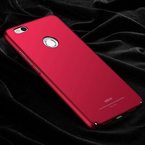 Coque Huawei Honor 8 Lite / Huawei P8 Lite (2017), MSVII® Très Mince Coque Etui Housse Case et Protecteur écran Pour Huawei Honor 8 Lite / Huawei P8 Lite (2017) - Or JY00252 Rouge